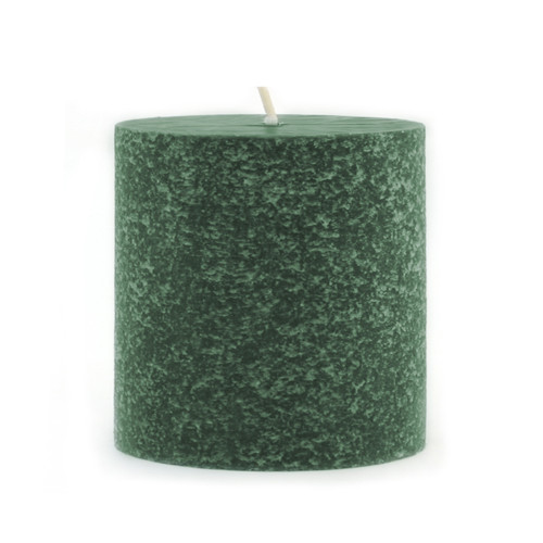 """Root Timberline Pillar 3x3"""" Unscented Candle, Dark Green"""