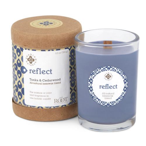 Root Seeking Balance Jar Candle, Tonka & Cedarwood, Reflect