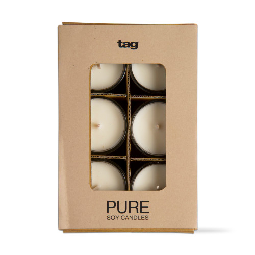TAG Pure Soy Candle Votives, Set of 6