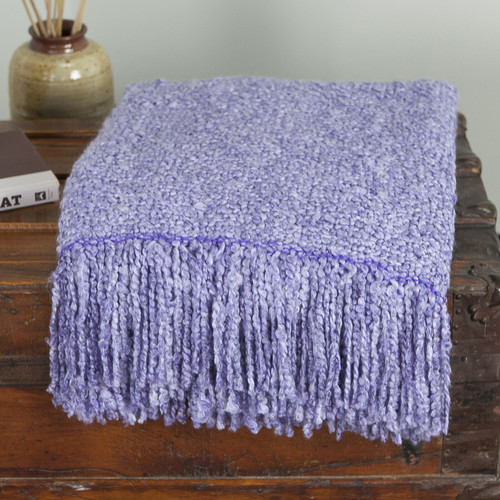 Kennebunk Campbell Woven Throw, Thistle