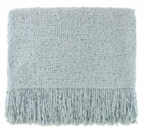 Kennebunk Campbell Woven Throw, Ice
