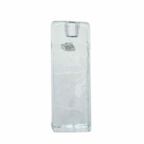 Blenko Ice Glass Candle Holder, Clear Large