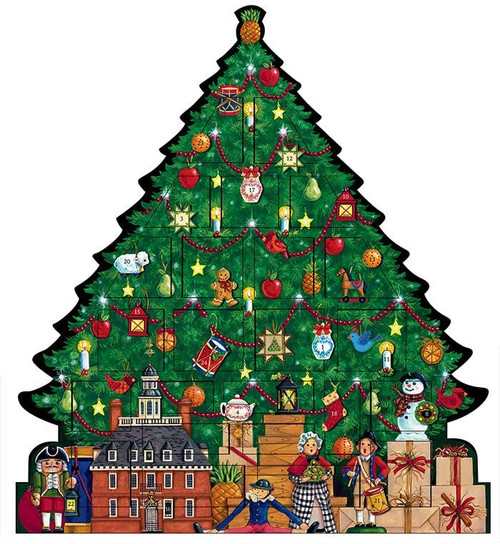 Byers' Choice Advent Calendar, Williamsburg Christmas Tree (ZWMAC2)