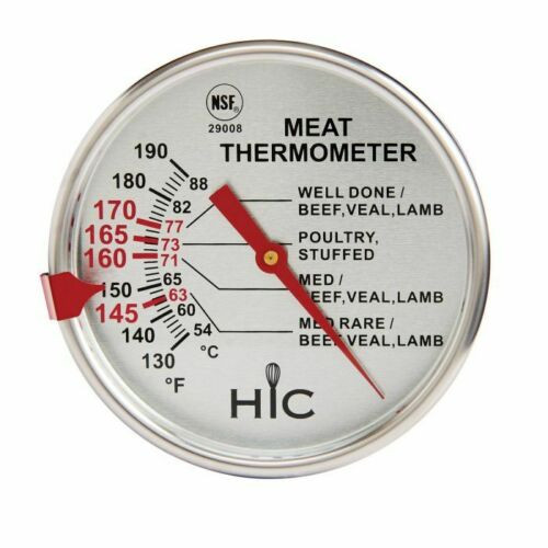 HIC Kitchen Large Face Meat Thermometer