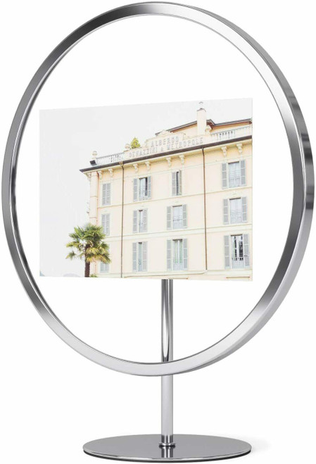 Umbra Infinity Floating 5x7 Picture Frame, Chrome