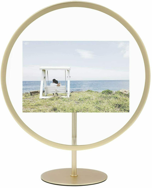 Umbra Infinity Floating 5x7 Picture Frame, Brass