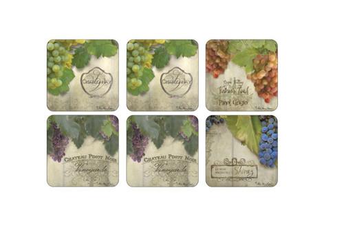 Pimpernel Coasters, Tuscan Vineyard, Set of 6