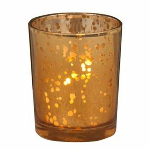 Biedermann & Sons Rustic Amber Glass Single Votive Holder