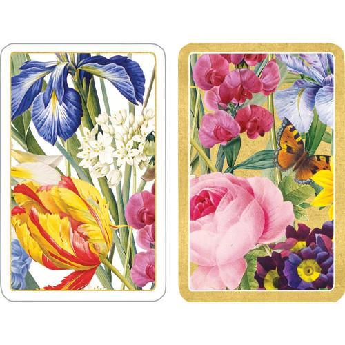 Caspari Large Type Bridge Playing Cards, Redoute Floral, 2 Decks (PC139J)
