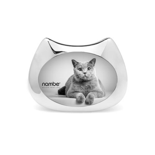 "Nambe Cat Frame, 3"" x 5"""