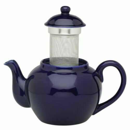 HIC Kitchen Teapot with Infuser, Cobalt