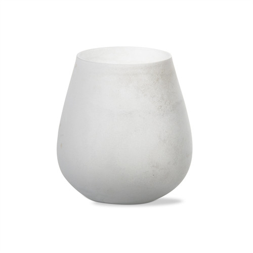 TAG White Monterey Frosted Tealight Holder, White