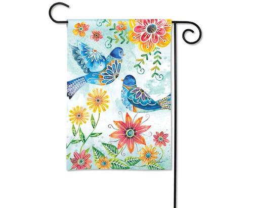 Studio M Happy Bluebirds Garden Flag
