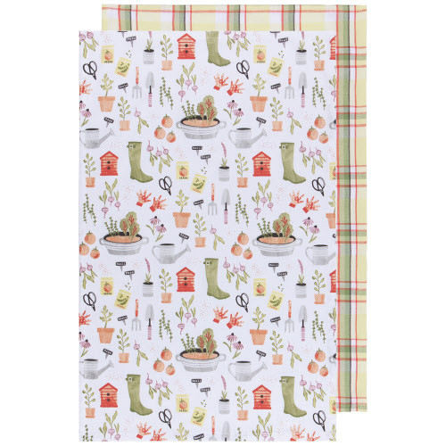 Now Designs Garden Tea Towels, Set of 2