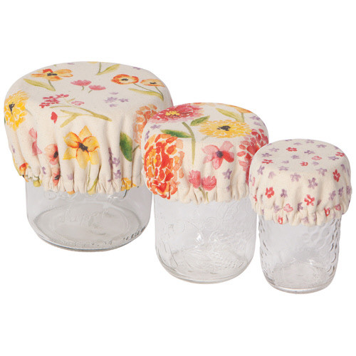 Now Designs Cottage Floral Mini Bowl Covers, Set of 3