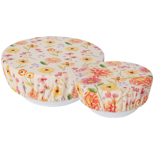 Now Designs Cottage Floral Bowl Cover, Set of 2