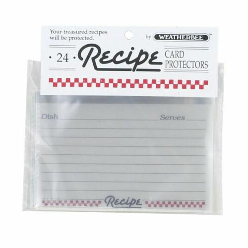 HIC Weatherbee Recipe Cards Protectors, 3 x 5, Set of 24