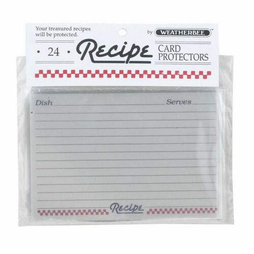 HIC Weatherbee Recipe Cards Protectors, 4 x 6, Set of 24