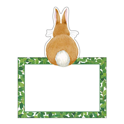 Caspari Die-Cut Place Cards, Bunnies & Boxwood (90901P)