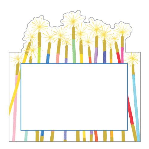 Caspari Die-Cut Place Cards, Party Candles (90905P)