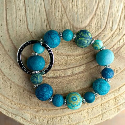 Jilzarah Laguna Blue Small Wrist Keychain