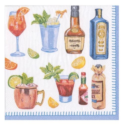 Caspari Paper Beverage Napkins, Happy Hour (15880C)
