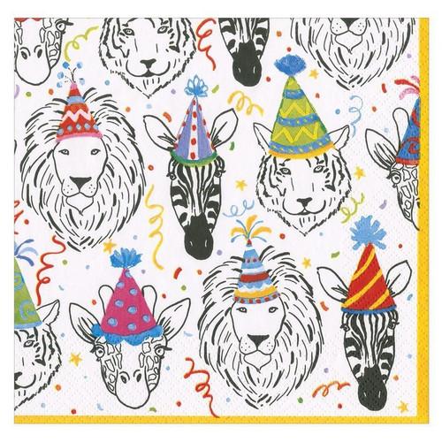 Caspari Paper Luncheon Napkins, Safari Birthday (16330L)