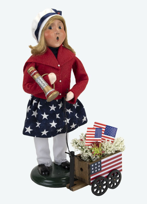 Byers' Choice Caroler, Patriotic Girl With Wagon (5145)