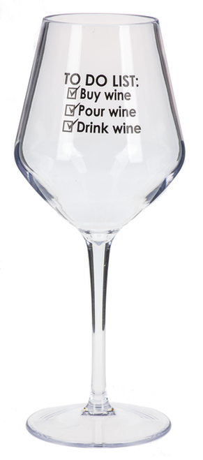 Ganz Contempo Wine Glasses, To Do List