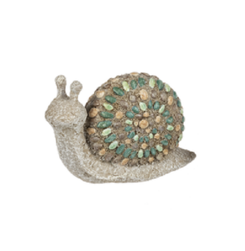 Ganz Mosaic Pebble Mini Critter Figurines, Snail