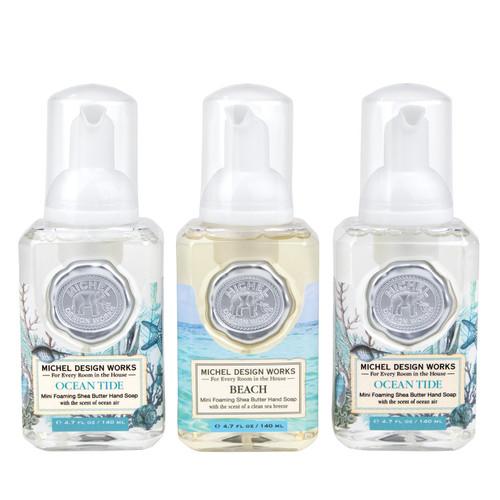 Michel Design Works Mini Foaming Hand Soap Set #12, Ocean Scents