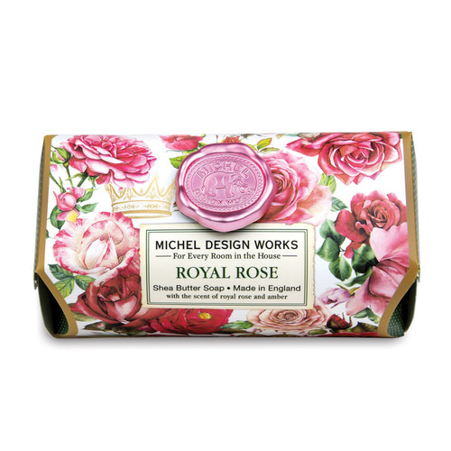 Michel Design Works Large Bath Soap Bar, Royal Rose