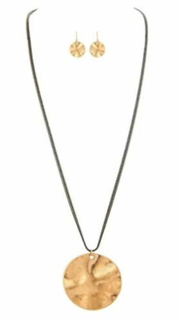 Rain Gold/Black Chain Drop Necklace Set
