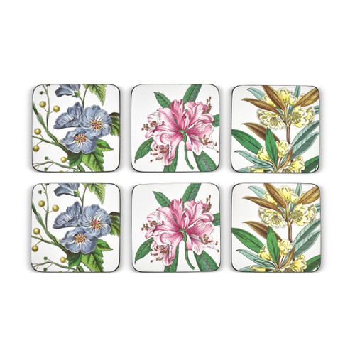 Pimpernel Coasters, Stafford Blooms, Pack of 6