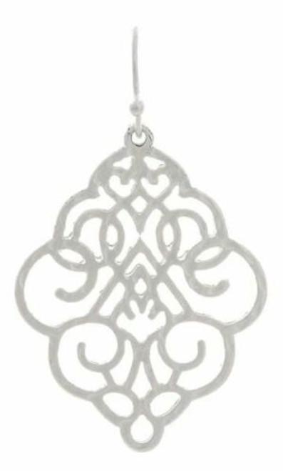 Rain Silver Antique Scrollwork Earrings