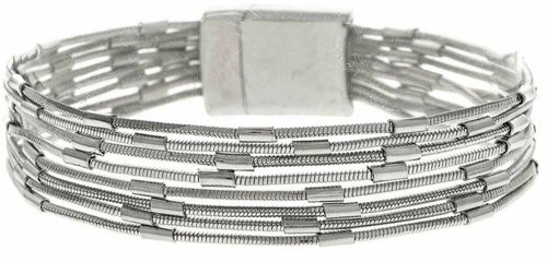 Rain Silver Variegated Chains Bracelet