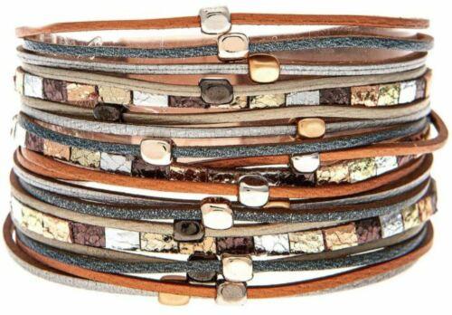 Rain Multicolor Blocks Magnetic Bracelet