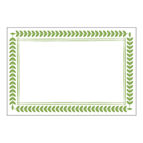 Caspari Place Cards, Leaf Border Green (90910P)