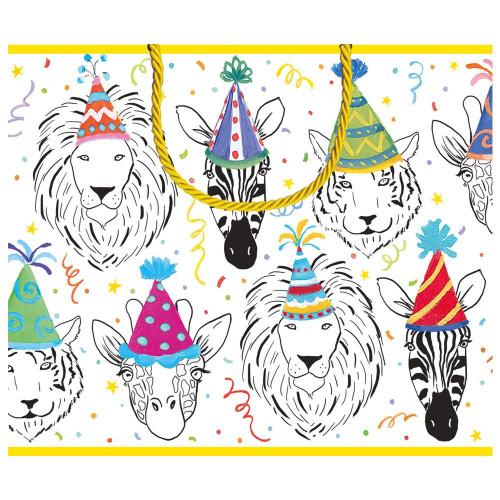 Caspari Large Gift Bag, Safari Birthday (10014B3)