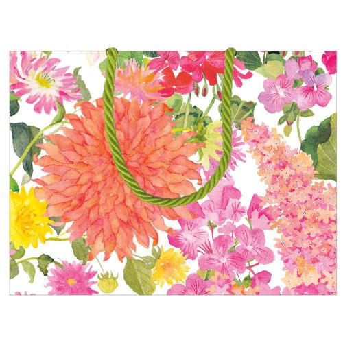 Caspari Small Gift Bag, Summer Blooms (10015B1)