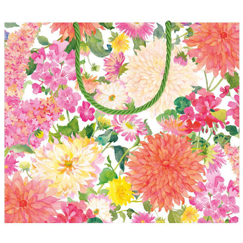 Caspari Large Gift Bag, Summer Blooms (10015B3)