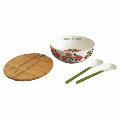 Paperproducts Design Tomatoes & Olives Salad Bowl Set