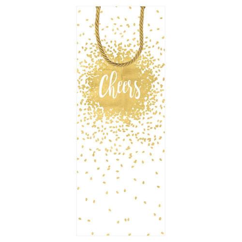 Caspari Wine & Bottle Gift Bag, Cheers (9021B4)