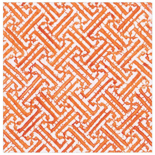 Caspari Paper Dinner Napkins, Fretwork Orange (16452D)