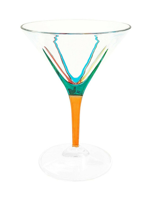 Gage Fusion Martini Glass, Orange Stem