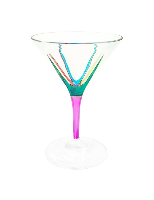 Gage Fusion Martini Glass, Pink Stem
