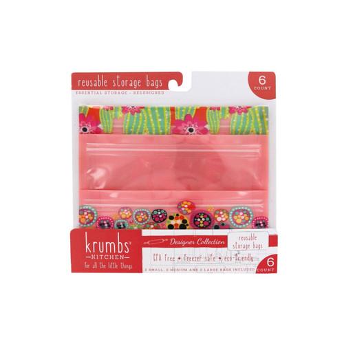 DM Merchandising Reusable Storage Bags 6 Pack, Circles