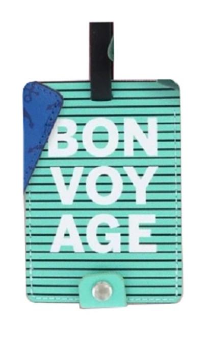 DM Merchandising Sage & Emily Getaway Girl Luggage Tag, Bon Voyage