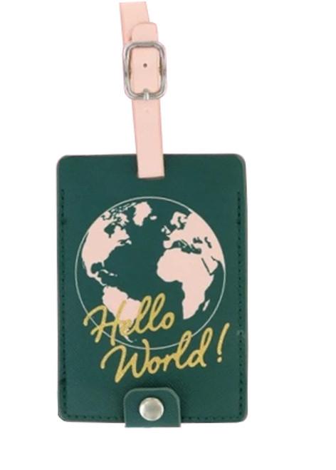 DM Merchandising Sage & Emily Getaway Girl Luggage Tag, Hello World!