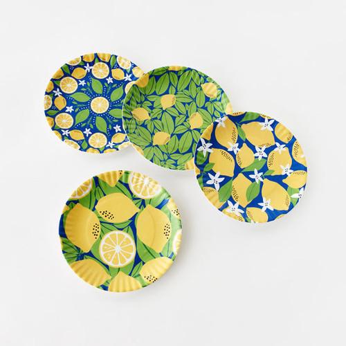 180 Degrees Melamine Plate Set, Lemon
